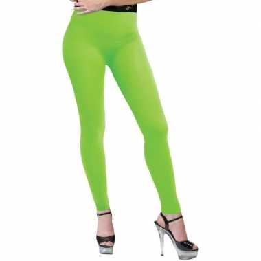 Originele neon groene legging dames carnavalskleding