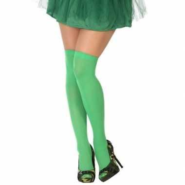 Originele neon groene verkleed kousen dames carnavalskleding