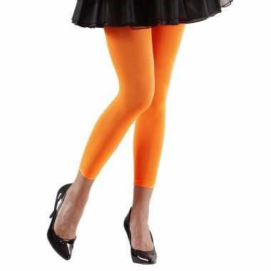Originele neon oranje legging dames carnavalskleding