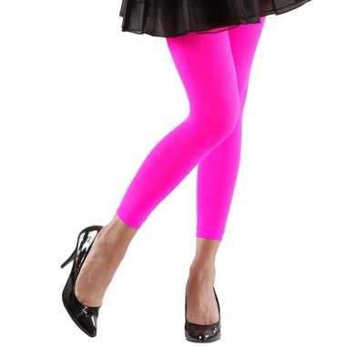Originele neon roze legging dames carnavalskleding