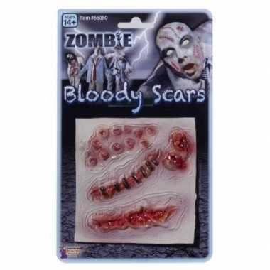 Originele nepwonden zombie stuks carnavalskleding