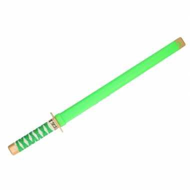 Originele ninja vechters zwaard verkleed wapen groen carnavalskleding