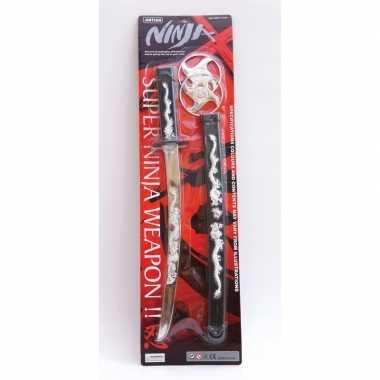 Originele ninja zwaard zwarte schede carnavalskleding