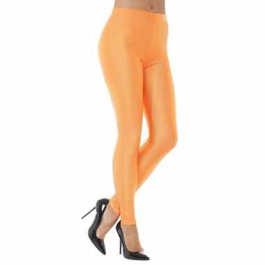 Originele oranje spandex verkleed legging dames carnavalskleding