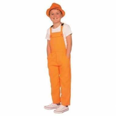 Originele oranje tuinbroek/carnavalskledingl kinderen