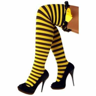 Originele overknee kousen wesp ruches carnavalskleding