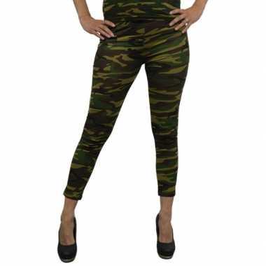 Originele party legging camouflage print carnavalskleding