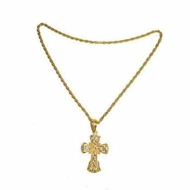 Originele pastoor ketting kruis carnavalskleding