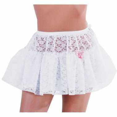 Originele petticoat wit kant dames carnavalskleding