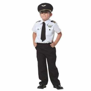 Originele piloot verkleed carnavalskleding jongens