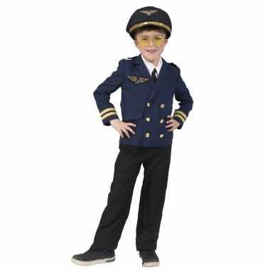 Originele piloten verkleed jasje kinderen carnavalskleding