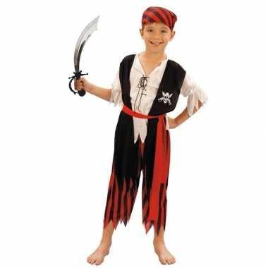 Originele piraten carnavalskleding maat s zwaard kinderen