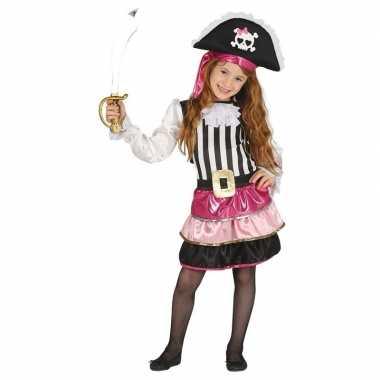 Originele piraten carnavalskleding roze meisjes
