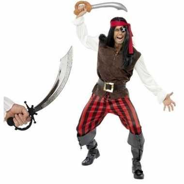 Originele piraten carnavalskleding zwaard maat m volwassenen