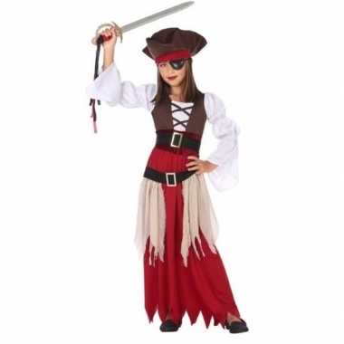 Originele piraten verkleed carnavalskleding/carnavalskleding meisjes