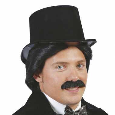 Originele plastic hoge hoed volwassenen carnavalskleding