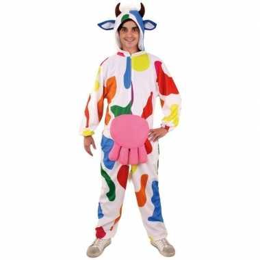 Originele pluche bonte koe onesie heren carnavalskleding