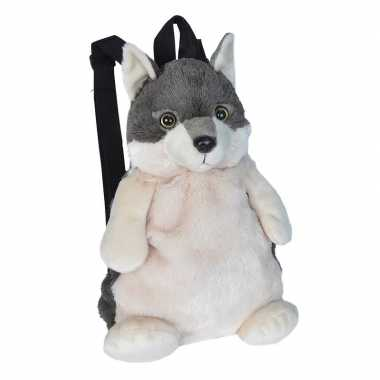 Originele pluche wolf rugzak/rugtas knuffel carnavalskleding