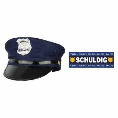 Originele politie accessoires set volwassenen carnavalskleding