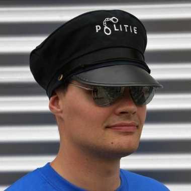 Originele politie accessoires verkleedset pet bril carnavalskleding