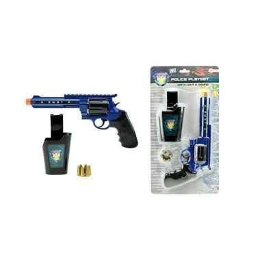 Originele politie speelgoed pistool set licht geluid carnavalskleding