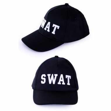 Originele politie swat baseball cap carnavalskleding volwassenen