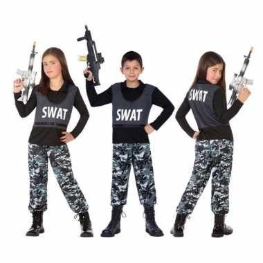 Originele politie swat verkleed carnavalskleding/carnavalskleding kin