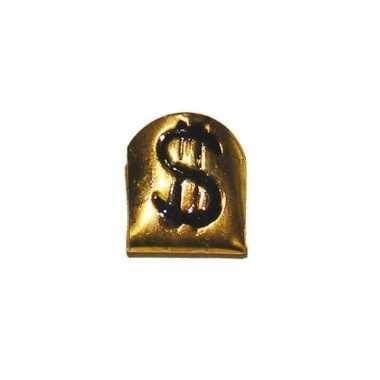 Originele pooier tand goud dollarteken carnavalskleding