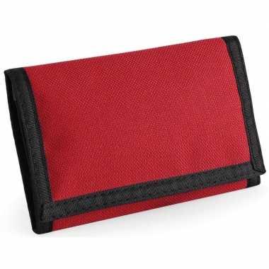 Originele portemonnee/portefeuille rood carnavalskleding