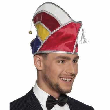 Originele prins carnaval muts multikleur heren carnavalskleding