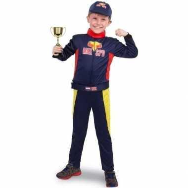 Originele race/formule carnavalskleding beker jongens