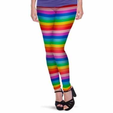 Originele rainbow legging dames carnavalskleding