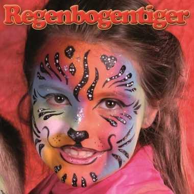 Originele regenboog tijger schminken schminkset carnavalskleding