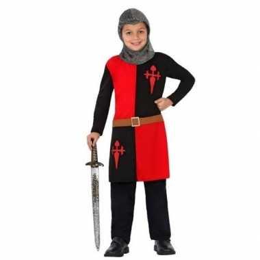 Originele ridder carnavalskleding/verkleed carnavalskleding rood jong