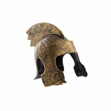 Originele ridder helm brons volwassenen carnavalskleding
