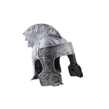 Originele ridder helm zilver volwassenen carnavalskleding