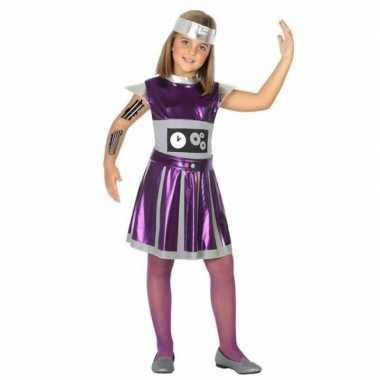Originele robot verkleed carnavalskleding/carnavalskleding meisjes