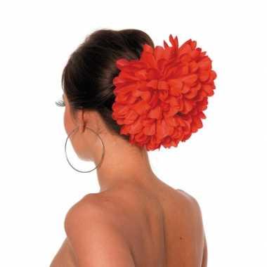 Originele rode bloemenklem haar carnavalskleding