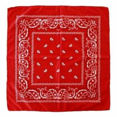 Originele rode boeren zakdoek carnavalskleding