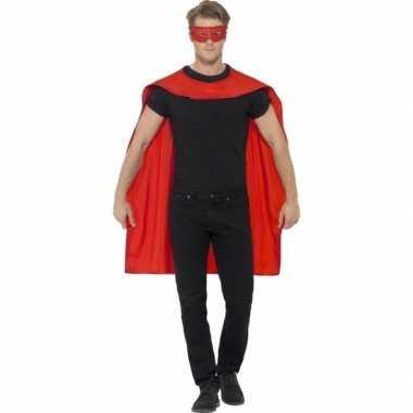 Originele rode cape oogmasker volwassenen carnavalskleding