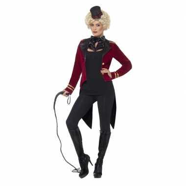 Originele rode circusjas hoed dames carnavalskleding