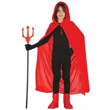 Originele rode halloween verkleedcape capuchon kinderen carnavalskled