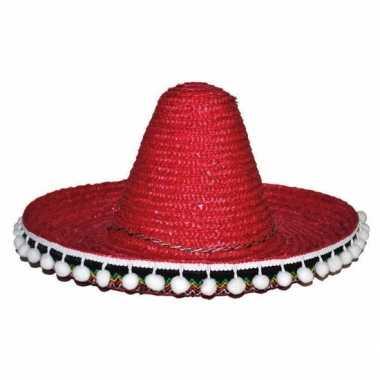 Originele rode sombrero kinderen carnavalskleding