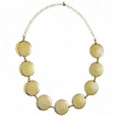 Originele romeinen ketting goud carnavalskleding