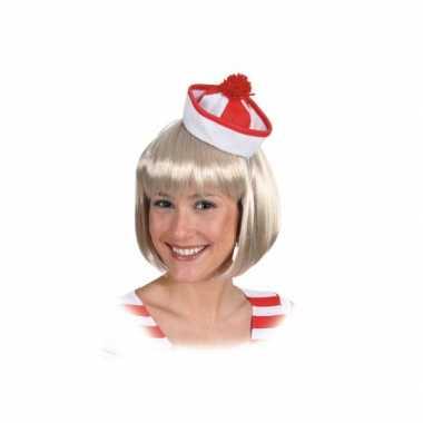 Originele  Rood witte matrozen hoedjes carnavalskleding