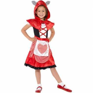 Originele roodkapje carnavalskleding meisjes