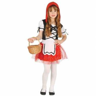 Originele roodkapje verkleed carnavalskleding/carnavalskleding meisje
