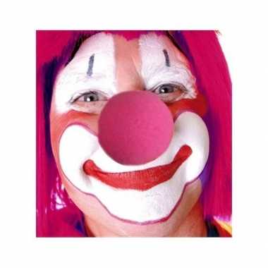 Originele roze accessoires clowns neus carnavalskleding