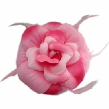 Originele roze bloem haar carnavalskleding