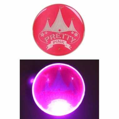 Originele roze broche licht circus afbeelding carnavalskleding